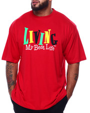 Big & Tall - Living My Best Life S/S Tee (B&T)-2433258