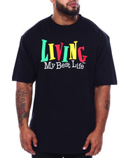 Big & Tall - Living My Best Life S/S Tee (B&T)-2433267