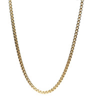 Men - 18K Gold Plated Box Chain Necklace-2434616