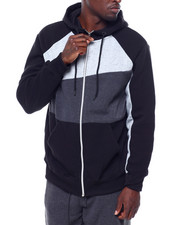 Men - Full Zip Colorblock Hoodie-2434509