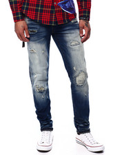 Mens-Winter - DISTRESSED RIP AND REPAIR JEAN-2435820