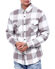 Mens-Holiday - Fleece Lined Flannel Shirt-2435427