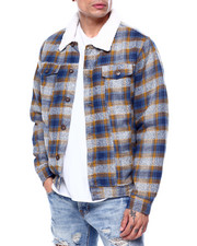 The Camper - Sherpa Plaid Jacket-2435400
