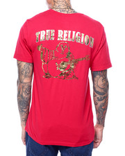 True Religion - SS GOLD FOIL BUDDHA CREW NECK-2435360