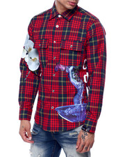 Cote De Nuits - PLAID BURLESQUE GRAPHIC BUTTONDOWN SHIRT-2435468