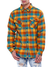Mens-Holiday - Fleece Lined Flannel Shirt-2435415