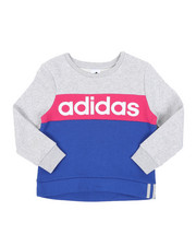 Girls - Pieced Crew Pullover (7-16)-2434667