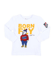Born Fly - Long Sleeve Chenille Patch Tee (4-7)-2435667
