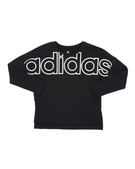 Adidas - Long Sleeve Cropped Tee (7-16)