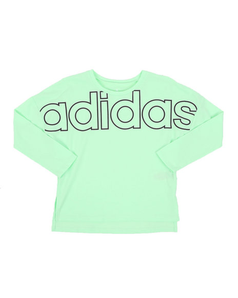 Adidas - Long Sleeve Cropped Tee (7-16)