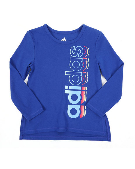 Adidas - Long Sleeve Side Vent Tee (2T-4T)
