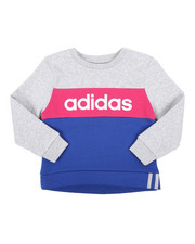 Girls - Pieced Crew Pullover (4-6X)-2434967