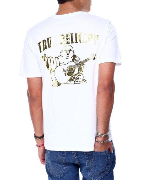 True Religion - SS GOLD FOIL BUDDHA CREW NECK