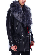 AMillion - Vegan Leather Faux Fur Detachable Moto Jacket-2434913