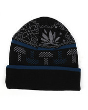 Ugly Christmas Shop - Mushroom Weed Alpine Devine Knit Hat-2436221