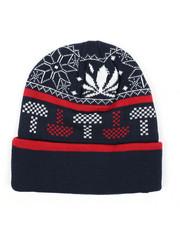 Ugly Christmas Shop - Mushroom Weed Alpine Devine Knit Hat-2436222