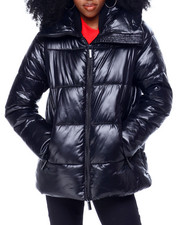 Womens-Winter - Quilted Puffer Jacket W/Snorkel Hood-2436173