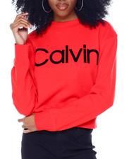 Calvin Klein - Flocked Logo L/S Mock Neck Pullover-2436183