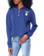 Graphix Gallery - Ohana 3/4 Zip Brushed Skimmer Hoodie-2433360