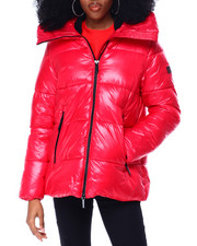 Womens-Winter - Quilted Puffer Jacket W/Snorkel Hood-2436178