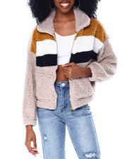 Spring-Summer-W - L/S Sherpa Jacket W/Patch Pockets-2436693