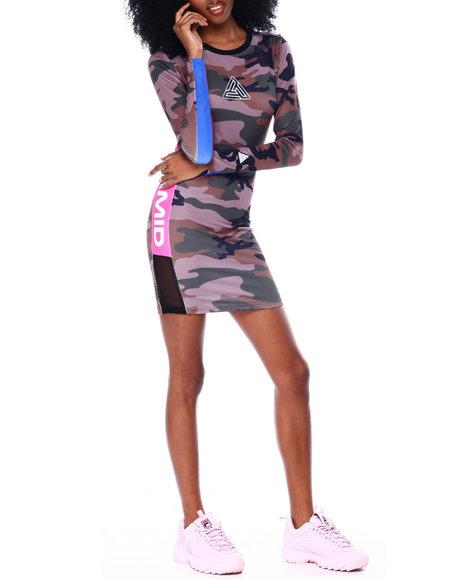 Black Pyramid - Color Pop Camo Dress