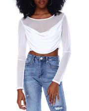 Tops - Long Sleeve Mesh Crop Top-2436671