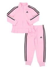 Girls - Pleated Tricot Set (4-6X)-2435528