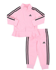 Girls - Pleated Tricot Set (2T-4T)-2435460