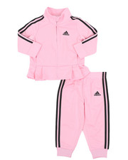 Girls - Pleated Tricot Set (3-24Mo)-2435440