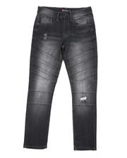 Jeans - Stretch Biker Denim Jeans (8-20)-2436370