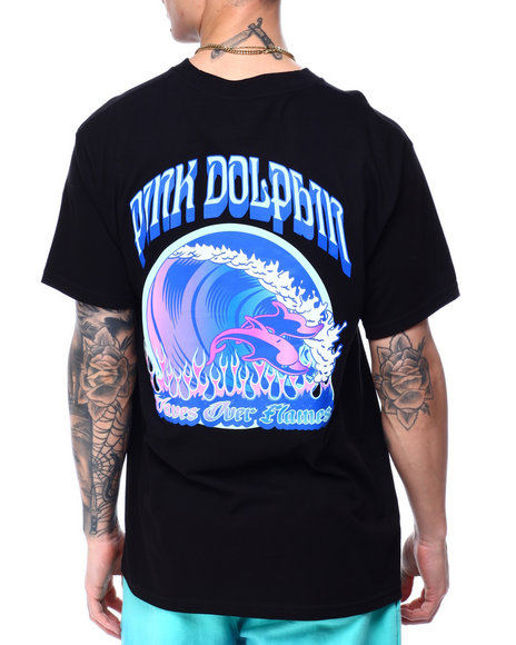 Pink Dolphin - WAVE OVER FLAME TEE