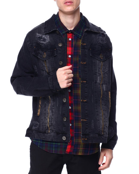 Liberation - Transparent Classic Fit Denim Jacket