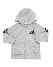 Outerwear - Hooded Melange Jacket (2T-4T)-2436896