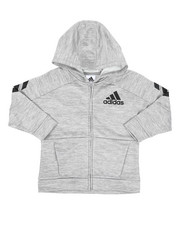 Boys - Hooded Melange Jacket (4-7)-2436912