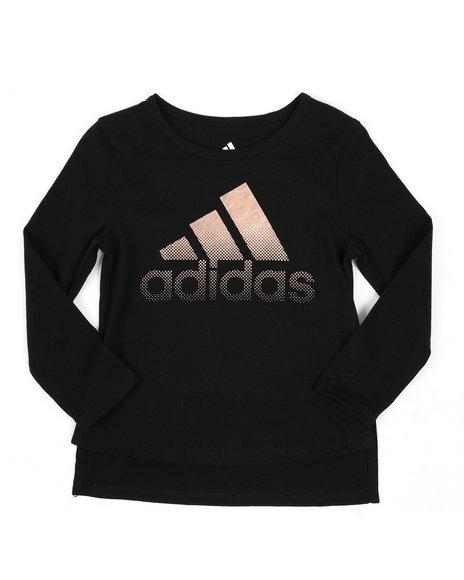 Adidas - Long Sleeve Split Hem Tee (2T-4T)