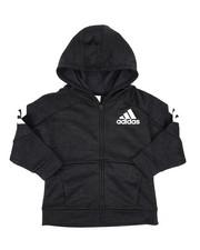 Adidas - Hooded Melange Jacket (4-7)-2437440