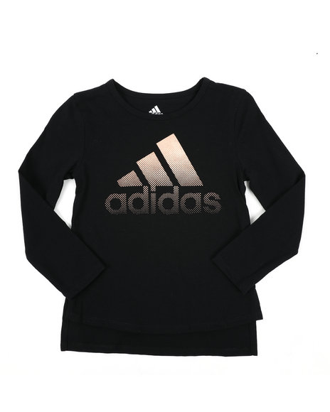 Adidas - Long Sleeve Split Hem Tee (4-6X)