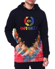 offbeat - Off Beat Embroidered Tie Dye HoodIE-2437155