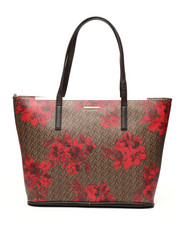 Fashion Lab - Floral Printed Tote Bag-2435534