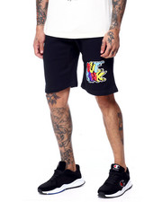 OUTRANK - Drip Logo Multi Color Shorts-2437777