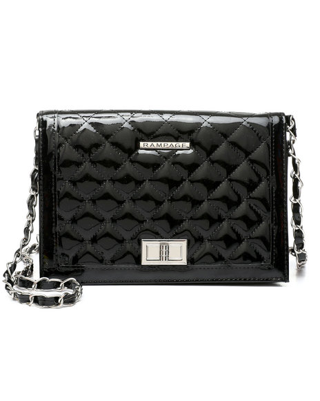 Rampage - Quilted Patent PU Crossbody