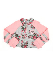 Sizes 2T-4T - Toddler - Felicity Raglan Half Zip Crop Top (2T-4T)-2436389