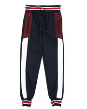 Arcade Styles - Color Block Herringbone Track Pants (8-18)-2437640