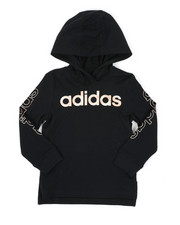 Adidas - Long Sleeve Hooded Linear Tee (2T-4T)-2436331