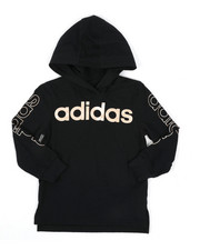 Adidas - Long Sleeve Hooded Linear Tee (4-7)-2436334