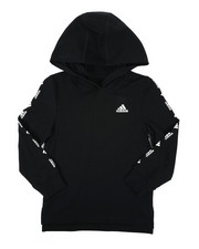 Adidas - Long Hooded Linear Tee (4-7)-2435750