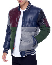 MAISON NOIR - James Colorblock Puffer Bomber Jacket-2438411