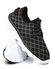 Footwear - Lace-Up Knit Sneakers -2436454