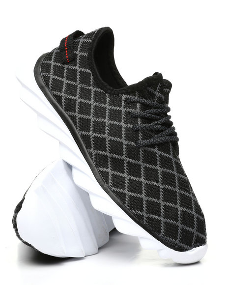 Fashion Lab - Lace-Up Knit Sneakers